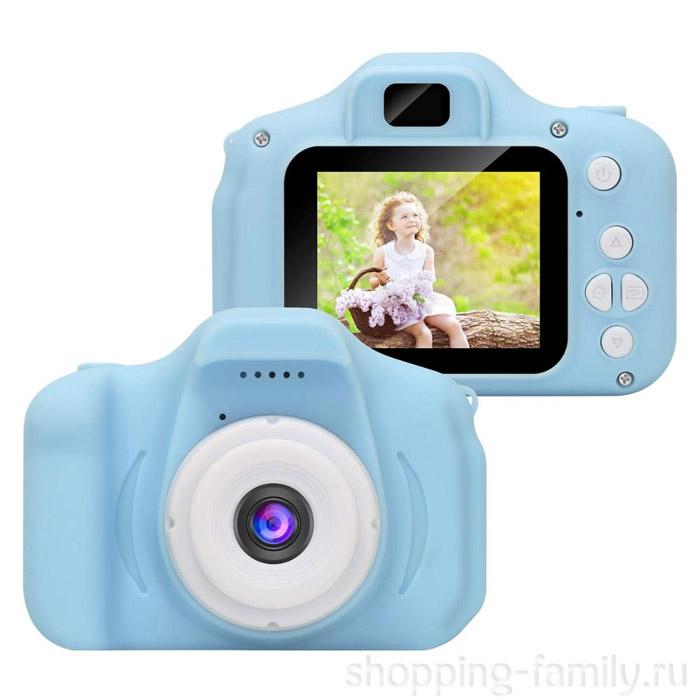 Детская цифровая камера Cartoon Digital Camera, Цвет Голубой