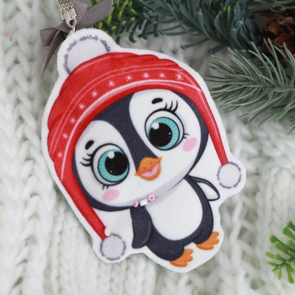 Набор для шитья текстильного брелока-подвески Пингвинёнок