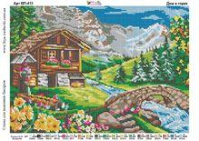 ВП-413 Фея Вышивки. Дом в Горах. А3 (набор 1750 рублей)