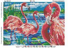 ВП-411 Фея Вышивки. Розовые Фламинго. А3 (набор 1750 рублей)