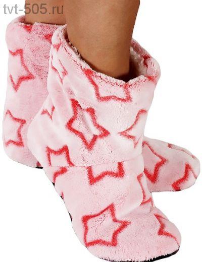 Тапочки меховые женские звезда 6034