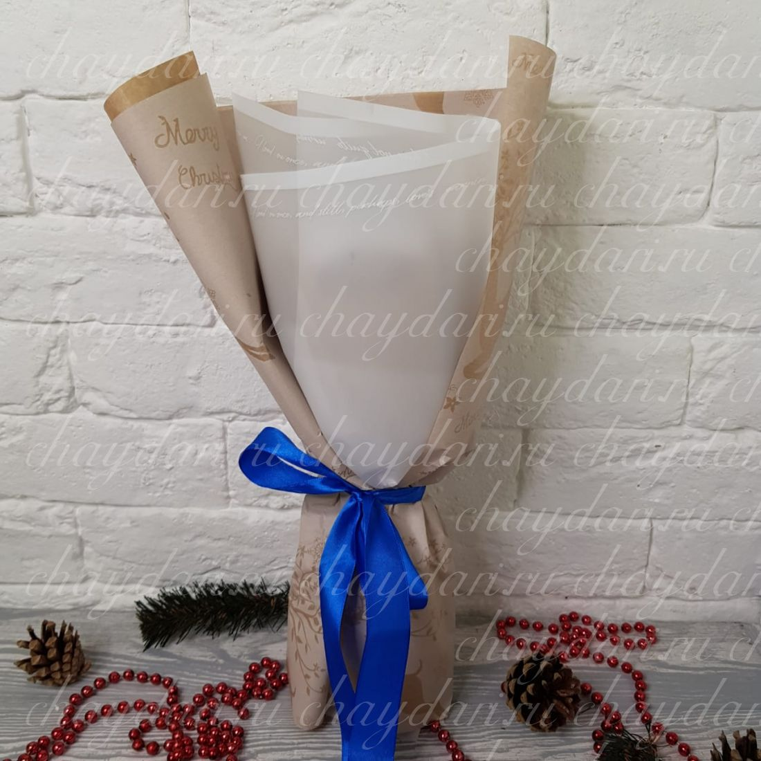 """Букет из чая  """"Рождественское письмо"""""""