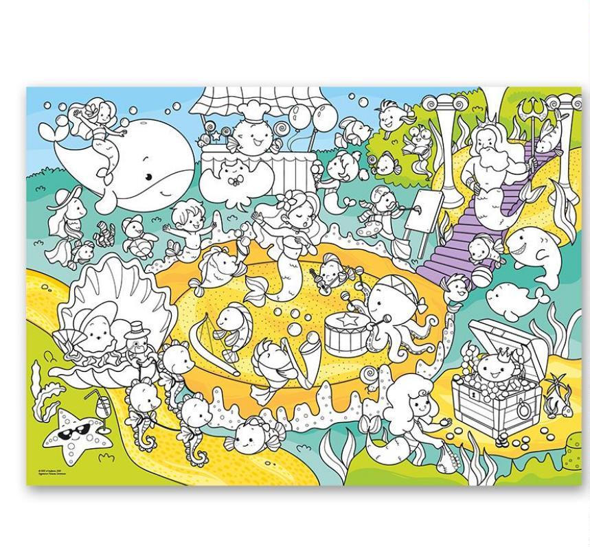 Раскраска-плакат ГЕОДОМ 5747 В океане, для малышей