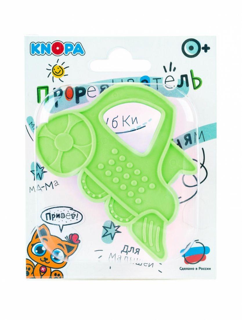 Прорезыватель KNOPA 80065 Паровозик, зеленый