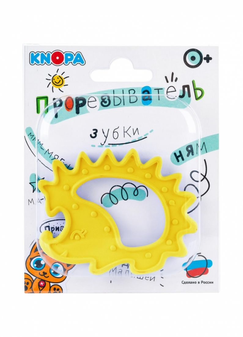 Прорезыватель KNOPA 80068 Ежик, желтый