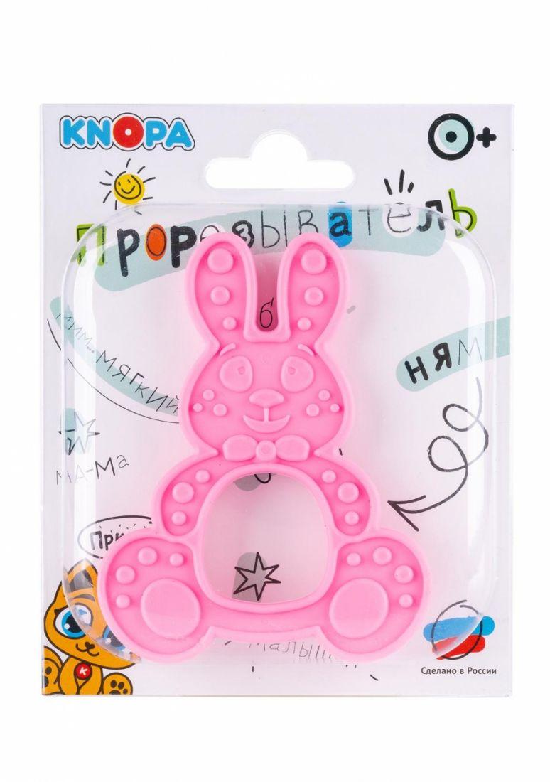 Прорезыватель KNOPA 80076 Зайка, розовый