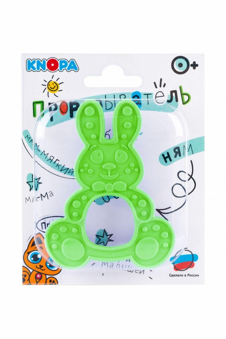 Прорезыватель KNOPA 80080 Зайка, зеленый