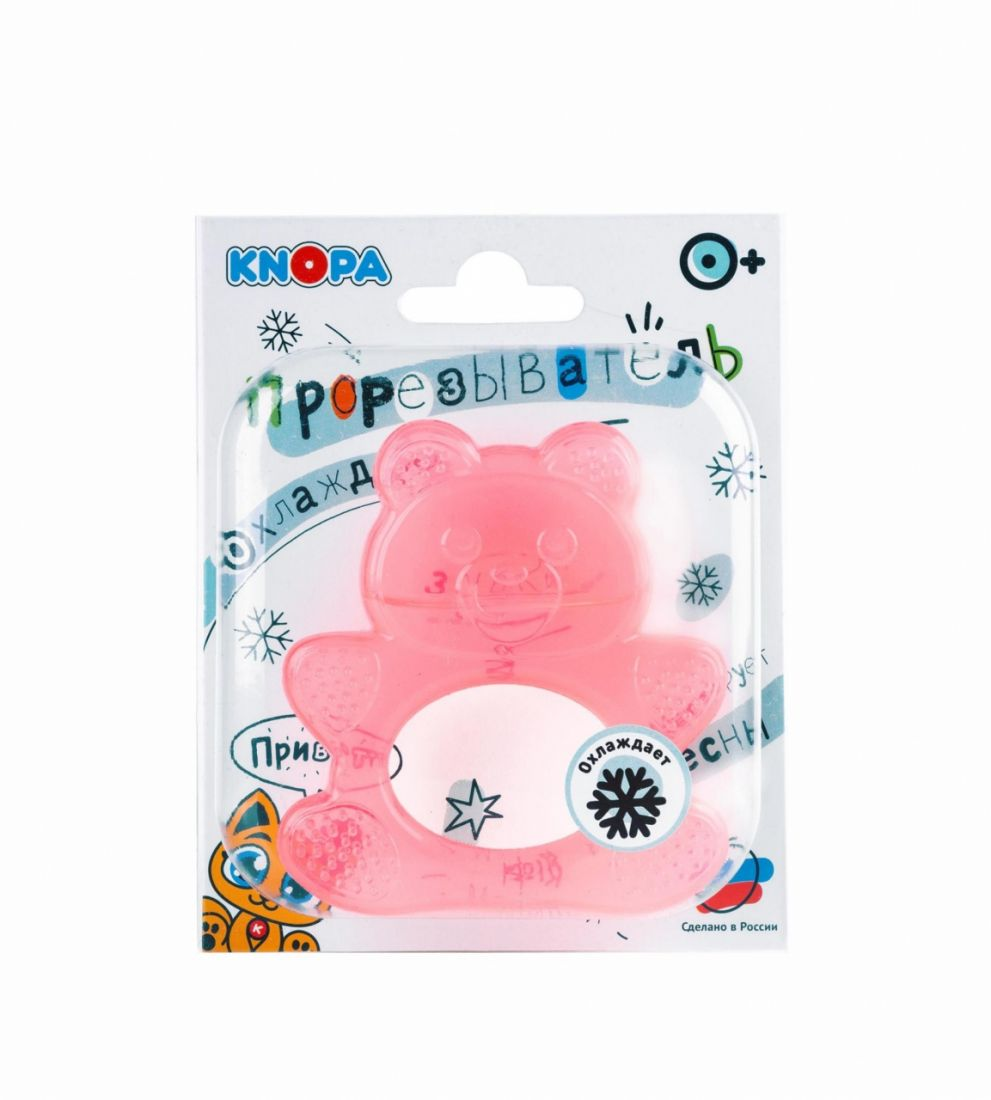 Прорезыватель KNOPA 80028 Мишка, красный