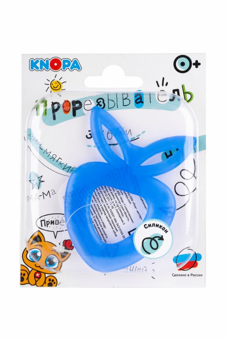 Прорезыватель KNOPA C6 Клубничка, синяя