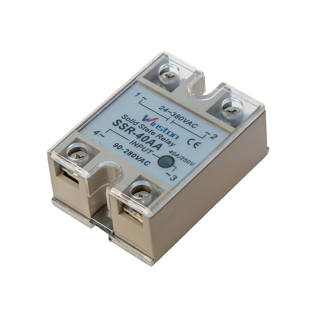 Твердотельное реле 40А 90-250VAC для коммутации переменного тока 24-380VAC