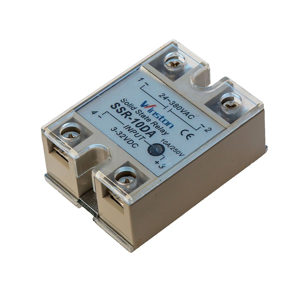 Твердотельное реле 10А 3-32VDC для коммутации переменного тока 24-380VAC