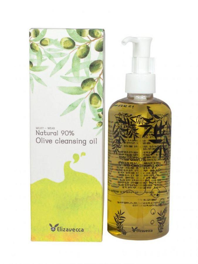 Гидрофильное масло с натуральным маслом оливы NATURAL 90%, 300 мл, ELIZAVECCA