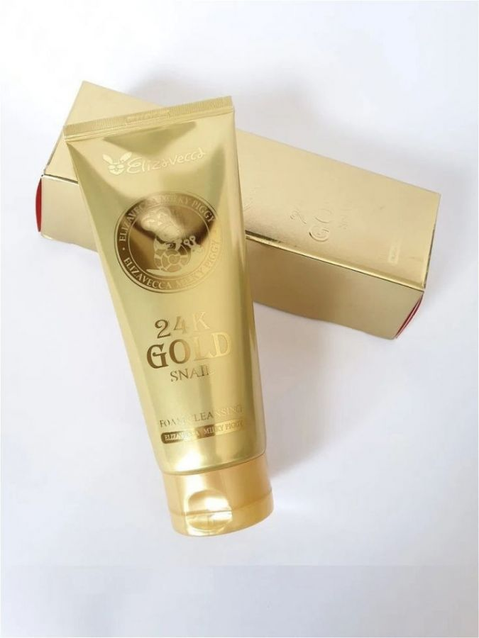 Пенка для умывания с экстрактом улитки и золота 24K GOLD SNAIL, 180мл,