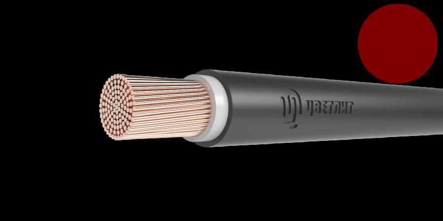 Провод одножильный ПуГВнг(А)-LS сечение 1.5мм красный для монтажа электрических цепей (метр)