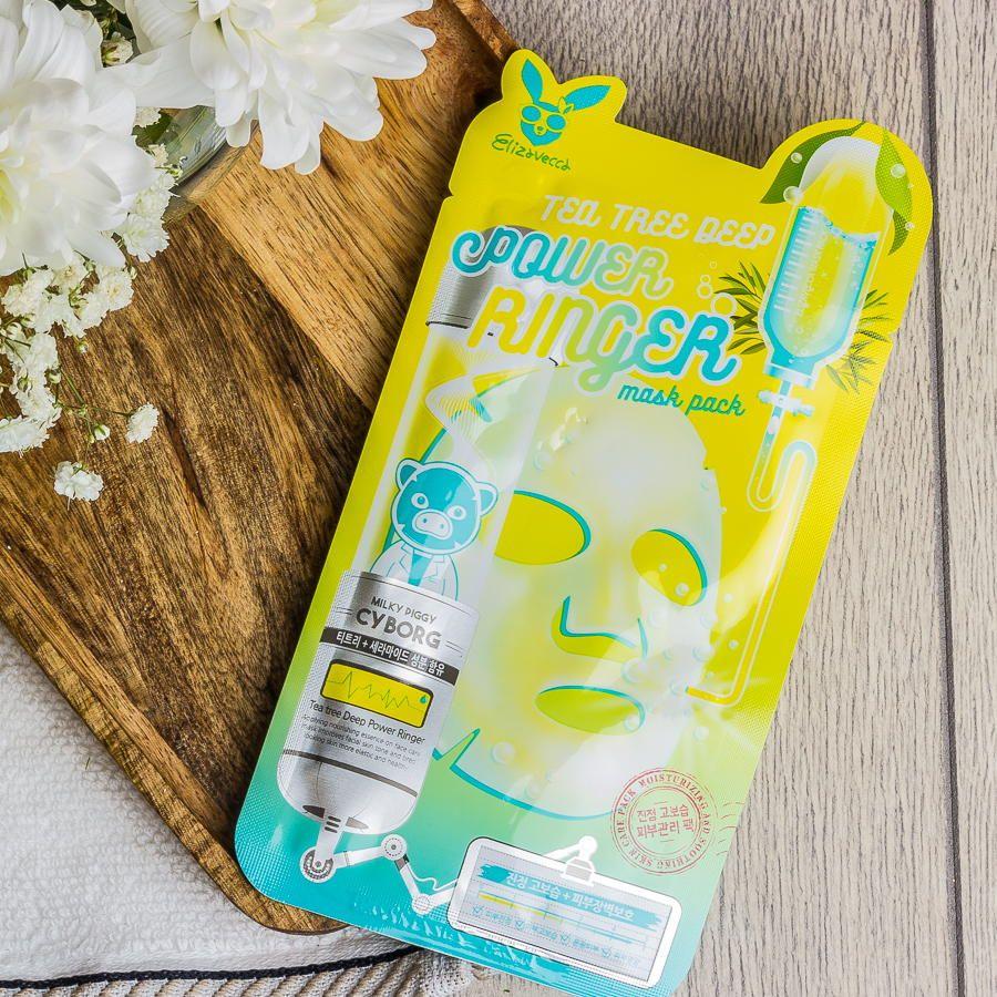 Тканевая маска для проблемной кожи с экстрактом чайного дерева Elizavecca Tea Tree Deep Power Ringer Mask Pack 23ml