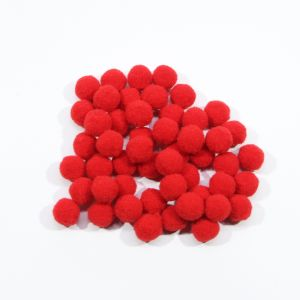 Помпоны, размер 15 мм, цвет 02 темно-красный (1уп = 50шт)