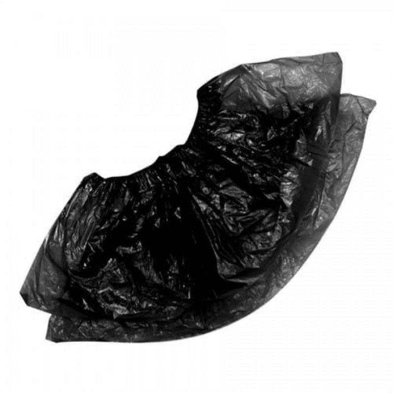 Бахилы п/э черные (стандарт) 50 пар