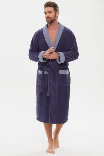Мужской махровый халат из бамбука Energy джинс