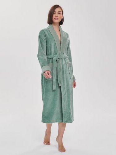 Женский махровый халат Soft Touch мятный
