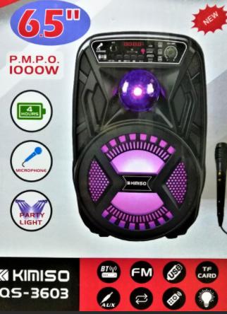 Беспроводная портативная bluetooth колонка c микрофоном KIMISO QS-3603