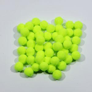 Помпоны, размер 15 мм, цвет 08 неоновый желтый (1уп = 50шт)