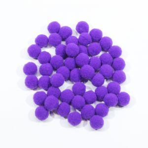 Помпоны, размер 15 мм, цвет 09 фиолетовый (1уп = 50шт)