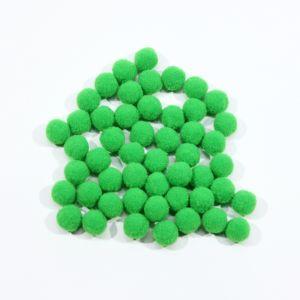 Помпоны, размер 15 мм, цвет 12 зеленый (1уп = 50шт)
