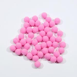 Помпоны, размер 15 мм, цвет 14 ярко-розовый (1уп = 50шт)