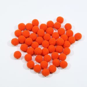 Помпоны, размер 15 мм, цвет 15 оранжевый (1уп = 50шт)