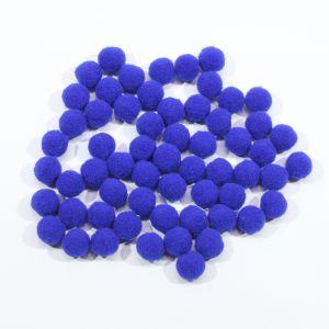 Помпоны, размер 15 мм, цвет 17 синий (1уп = 50шт)