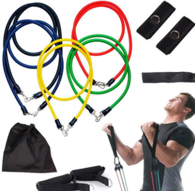 Силиконовый эспандер для укрепления мышц ( 5 жгутов)