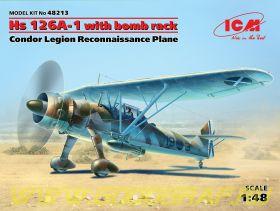 """Hs 126A-1 с бомбодержателем, Самолет-разведчик Легиона """"Кондор"""""""