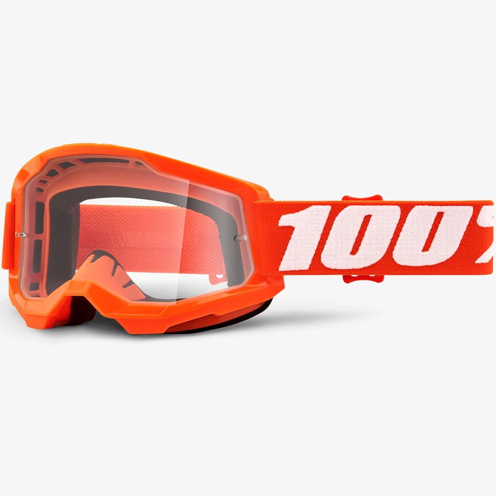 100% Strata 2 Orange Clear Lens, очки