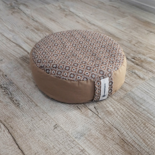 "Круглая подушка для медитации ""Какао"""