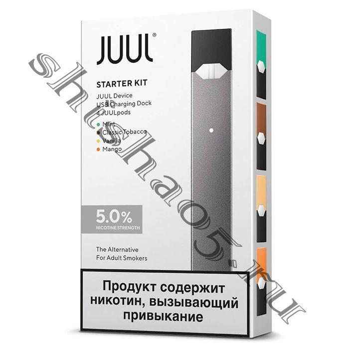 JUUL Labs + КАРТРИДЖИ Mint (4шт)  Графитовый