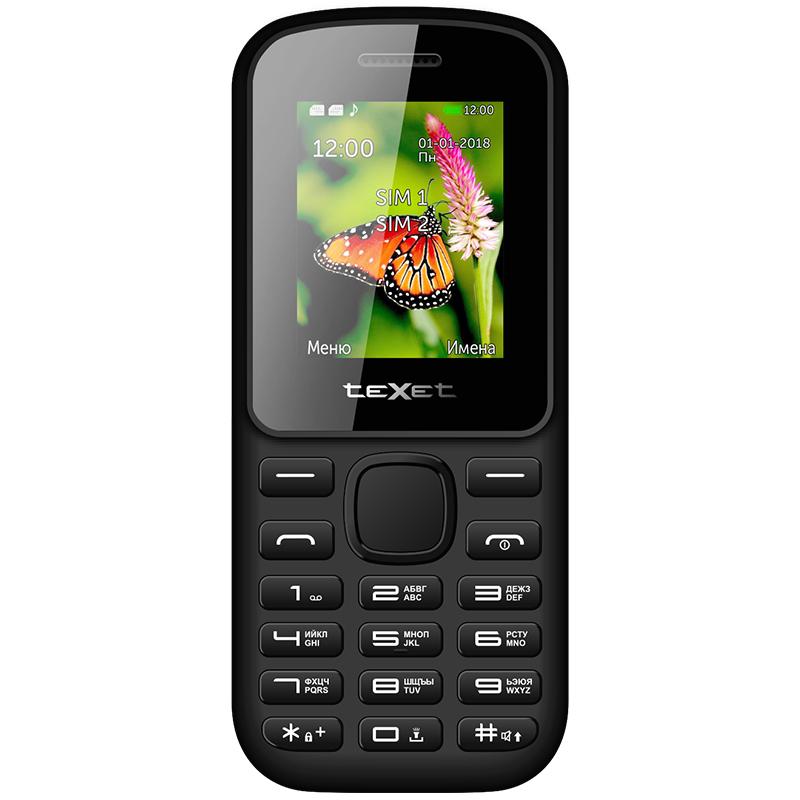 Мобильный телефон teXet TM-130 цвет черный