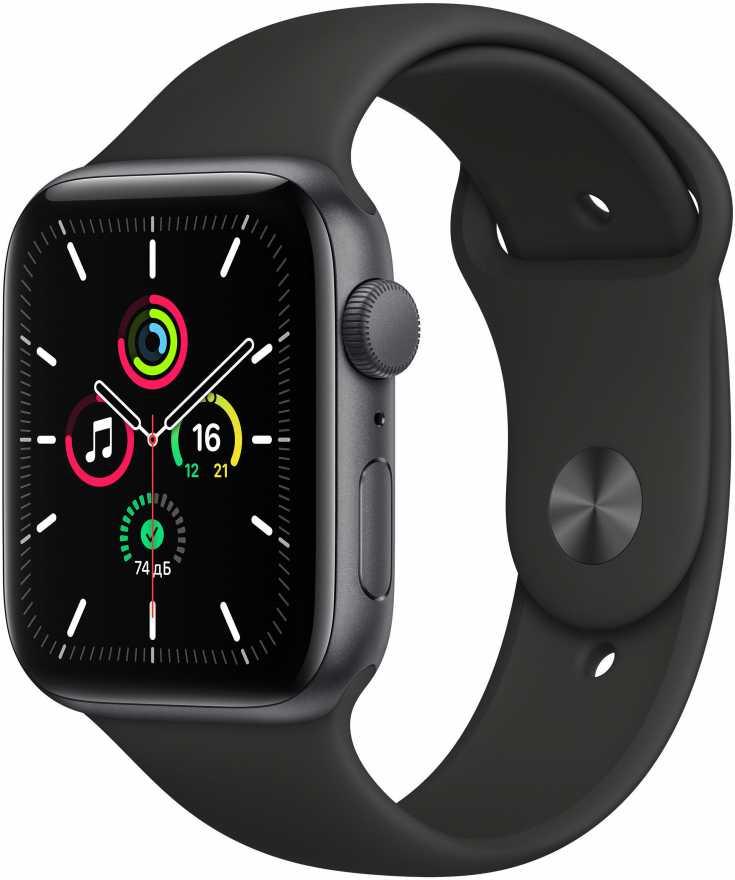 Умные часы Apple Watch SE GPS 40mm Aluminum Case with Sport Band Черный