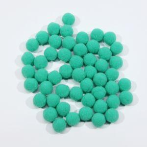Помпоны, размер 15 мм, цвет 26 темно-мятный (1уп = 50шт)