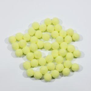 Помпоны, размер 15 мм, цвет 28 светло-желтый (1уп = 50шт)