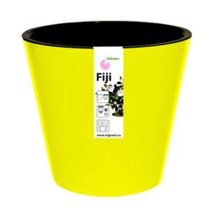 """Горшок для цветов """"Фиджи"""" d 230 мм/5 л желтый """"Пластик репаблик"""" ING1555ЖЛТ"""