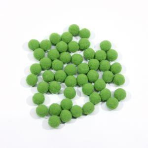 Помпоны, размер 15 мм, цвет 38 зеленое яблоко (1уп = 50шт)