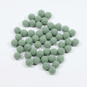 Помпоны, размер 15 мм, цвет 44 серо-голубой (1уп = 50шт)