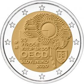 20 лет вступления Словакии в ОЭСР 2 евро Словакия 2020