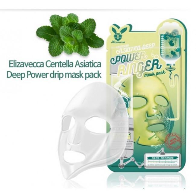 Тканевая укрепляющая маска с экстрактом центеллы азиатской Elizavecca Centella Asiatica Deep Power Ringer Mask Pack 23ml