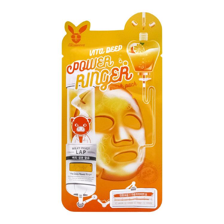 Тканевая питательная маска мгновенного действия витаминная Elizavecca Vita Deep Power Einger Mask Pack 23ml