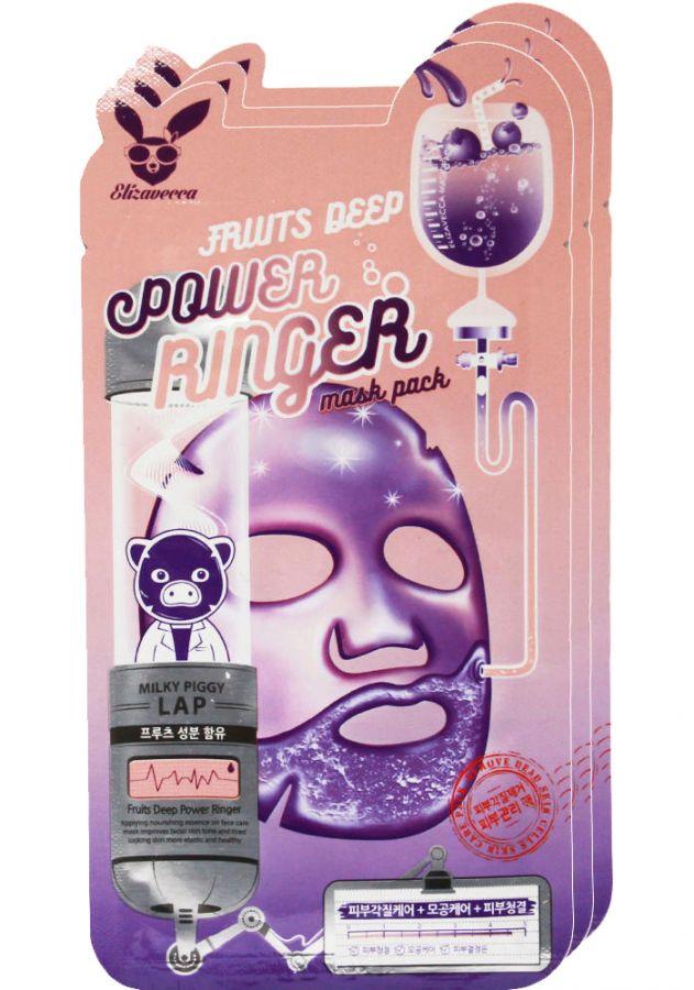 Тканевая питательная маска с экстрактами фруктов Elizavecca Fruits Deep Power Ringer Mask Pack 23ml