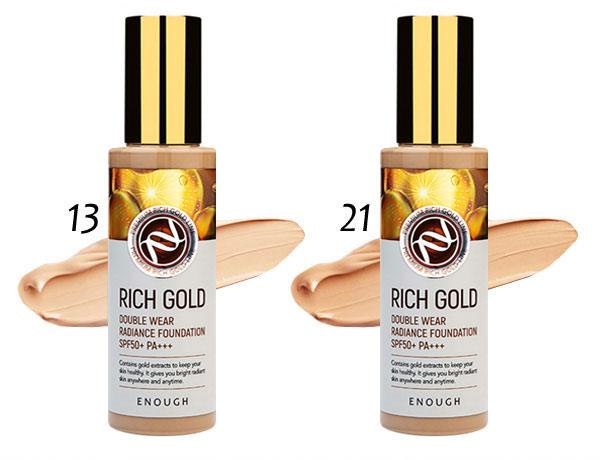 Тональный крем омолаживающий №13 Enough Rich Gold Double Wear Radiance Foundation SPF50+ PA+++