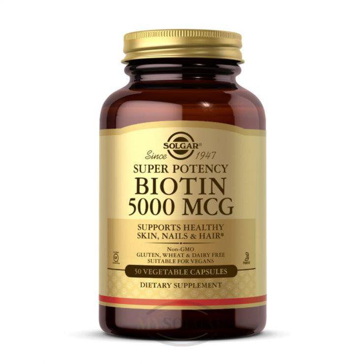 Биотин (Biotin) 5000 мкг, 50 капс.