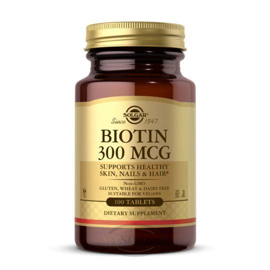 Солгар Биотин 300 мкг