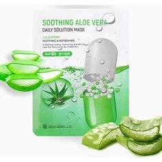 Тканевая маска с экстрактом алоэ Enough Daily Solution Mask - Soothing Aloe Vera, 23 мл
